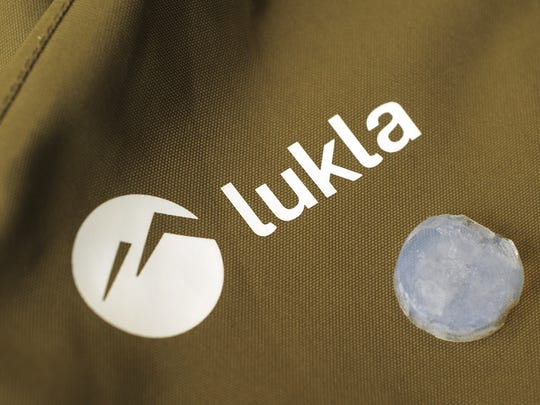 Lukla jackets are one of the first jackets on the market using aerogel as an insulator, allowing the jackets to be thinner and lighter than many other outdoor sports coats. The raw aerogel material, pictured here, is a brittle solid material.