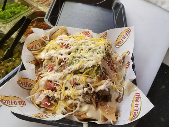 Loaded nachos from Me-N-Tito's Mexican Grill in Fort