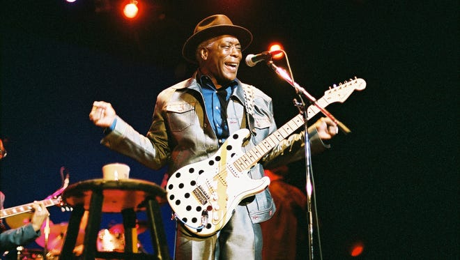 Legendary Blues guitarist Buddy Guy will play at the Montgomery Performing Arts Centre on Thursday.