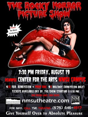 The American Southwest Theatre Co. has scheduled a showing of The Rocky Horror Picture Show at New Mexico State University on Aug. 19.