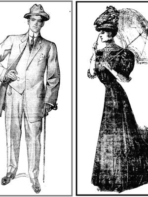 These were the clothes advertised in the 1909 Arizona Republican paper. When Arizona residents, in their shorts, T-shirts and flip-flops, complain about summer temperatures, just be thankful this isn't the current style.