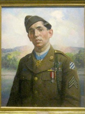 This portrait of the late Sgt. James P. Connor, Medal of Honor recipient, hangs in Delaware's Legislative Hall.