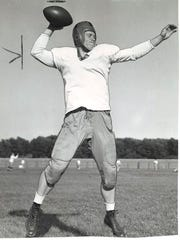 Bob Saggau, DB, Denison: A two-time all-state pick in 1935-36. Saggau went on to play at Notre Dame, and, in 1940, he held the school record for passing yards in a season with 483.