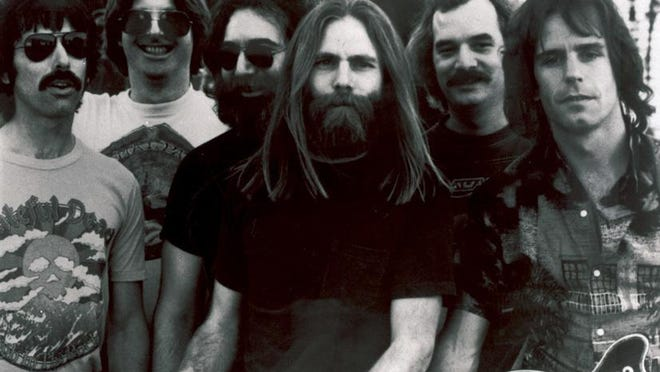 In an undated photo, members of the Grateful Dead, from left: Mickey Hart, Phil Lesh, Jerry Garcia, Brent Mydland, Bill Kreutzmann and Bob Weir.