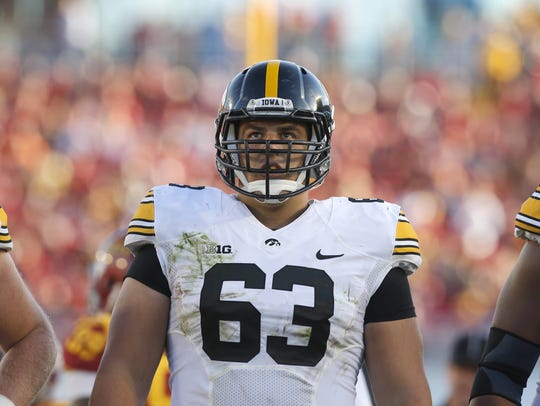 Iowa offensive lineman Austin Blythe earned third-team