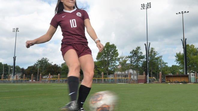 Gannon University women's soccer forward Taylor Lewis, 22, starred for three seasons before injuring her knee and taking a medical redshirt season in 2019. Lewis, who played at nearby Harbor Creek High School, is set to finish her career with the Golden Knights but the season has been suspended due to the COVID-19 coronavirus pandemic. Lewis, currently ranked third all-time in scoring with 87 points and 35 goals, is shown at McConnell Family Stadium on Sept. 1, 2020, in Erie.