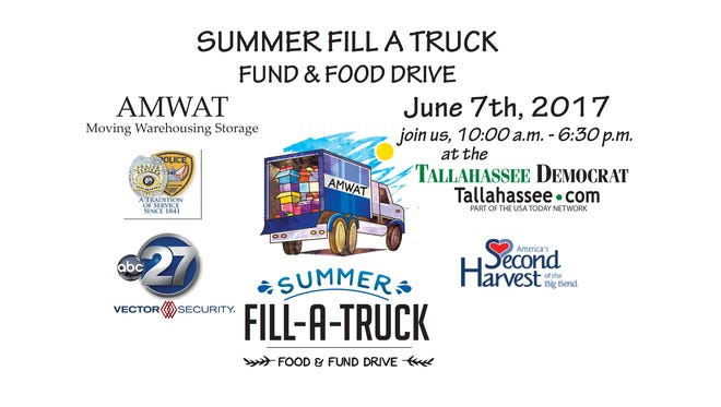 The Summer Fill-A-Truck food drive will help replenish the Second Harvest of the Big Bend food bank.