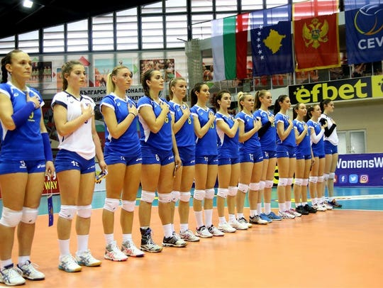 Anyla Kryeziu, the fourth from the left, was emotional