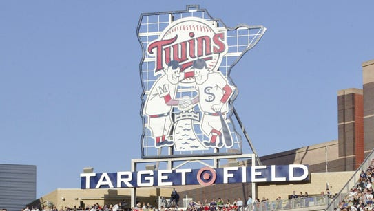 Twins sign at Target Field.