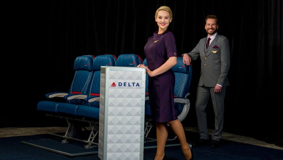 The new Delta flight attendant uniforms.