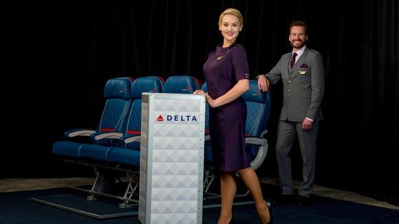 The new Delta flight attendant uniforms.