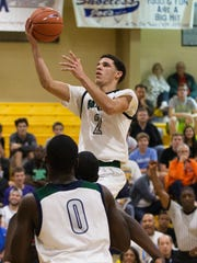 Chino Hills High School's Lonzo Ball scores against