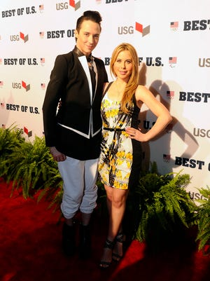 Johnny Weir and Tara Lipinski hit the red carpet before the United States Olympic Committee's Best of U.S. Awards Show at Warner Theater on April 2.