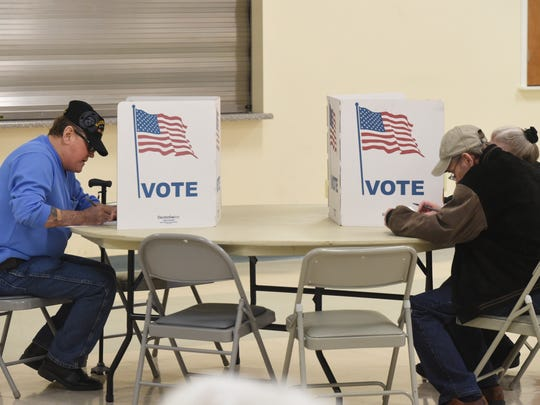 Baxter County citizens vote on Super Tuesday at East Side Baptist Church.