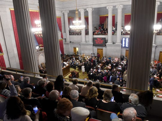 The state House convenes Tuesday, Jan. 10, 2017, for  the opening of the Tennessee legislature at the State Capitol in Nashville.