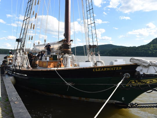 A view of the sloop Clearwater while docked in Cold