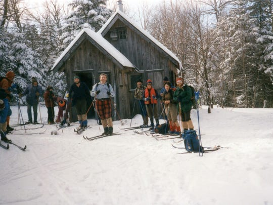 Skiers at Bryant Camp in 1988.