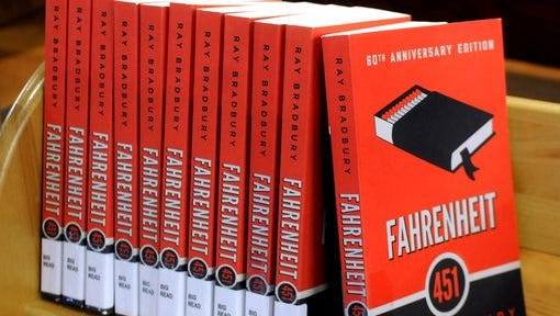 """""""Fahrenheit 451"""" by Ray Bradbury, published in 1953, is the featured book this month for """"The Big Read"""" campaign at the Poughkeepsie Public Library District. The books were photographed at Adriance Memorial Library in Poughkeepsie."""
