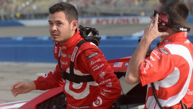 Twenty-four-year-old Kyle Larson won his second career NASCAR Cup Series race Sunday at Auto Club Speedway.