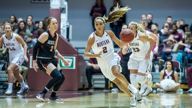 University of Montana basketball star Sophia Stiles is on the comeback trail after suffering a knee injury last February. The Malta native was in Great Falls this week to work the Josh Huestis camp.