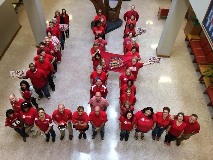 LCG employees wear red! Share your #WearRed photos with us! Email news@theadvertiser.com, share them on our Facebook page, or tweet them to @theadvertiser.