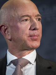 In this Sept. 13, 2018, file photo Jeff Bezos, Amazon