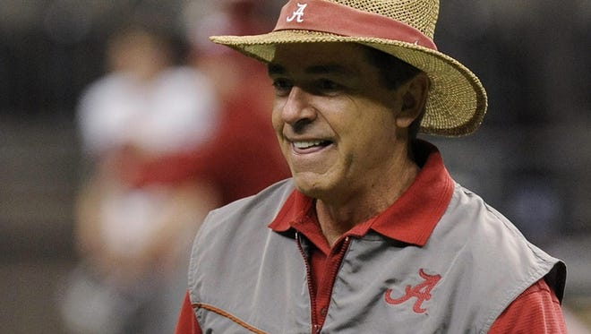 Alabama football coach Nick Saban and the Crimson Tide will have an interesting schedule in 2017.