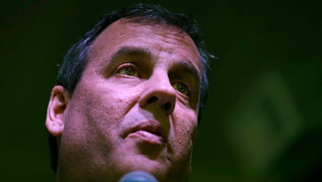 Republican presidential candidate, New Jersey Gov. Chris Christie answers a question during a campaign stop in Manchester, N.H., Monday, Feb. 8, 2016. (AP Photo/Charles Krupa)