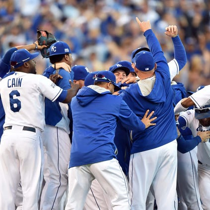 Oct 15, 2014; Kansas City, MO, USA; Kansas City Royals