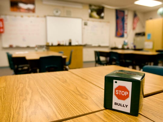"A ""bully box"" is set up at Lava Ridge Intermediate."