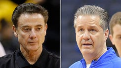 Louisville's Rick Pitino and Kentucky's John Calipari