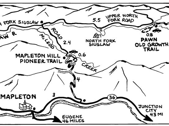 Pawn Old Growth Trail map.