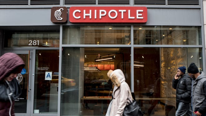 Chipotle announced first-quarter earnings Tuesday.