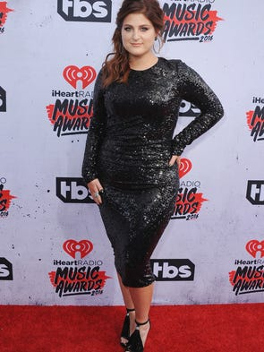 Meghan Trainor's red carpet style — sparkles, lace