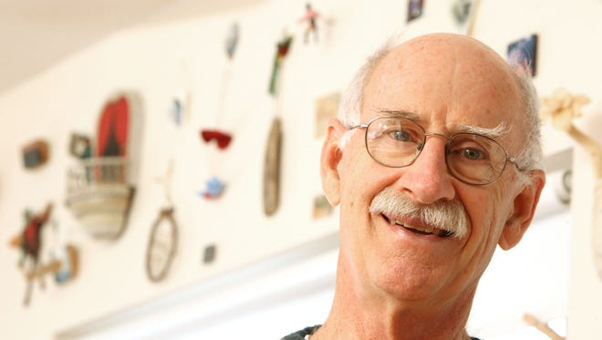 "Art Academy of Cincinnati professor emeritus Gary Gaffney helped to create the annual ""Minumentals"" exhibit at the Art Academy, now in its 28th year. Gaffney has collected dozens of pieces from exhibit over the years and displays them in his North College Hill home."