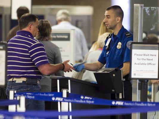 TSA security at Sky Harbor