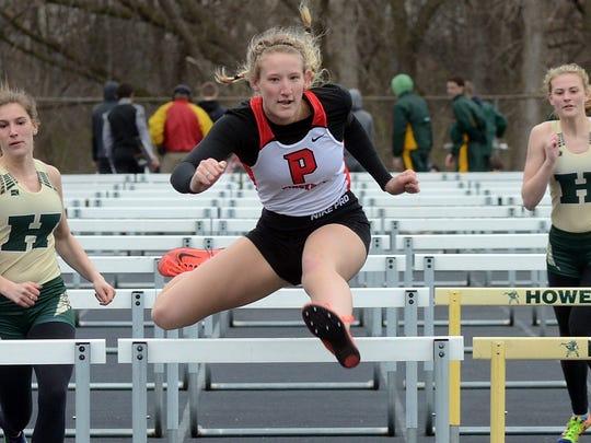 Pinckney's Savannah Soronen won the 100-meter hurdles