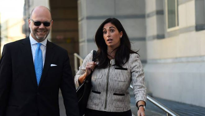 Christina Renna leaves federal court on Thursday, Oct. 6, 2016.