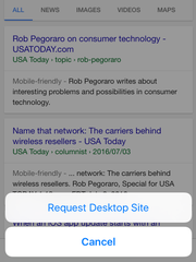 How to access the iPhone's desktop site from a mobile