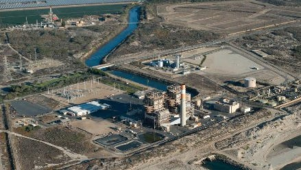 The Mandalay Generating Station is seen in this aerial view photo. A proposal by NRG Energy Inc. calls for a new station to replace two existing facilities.