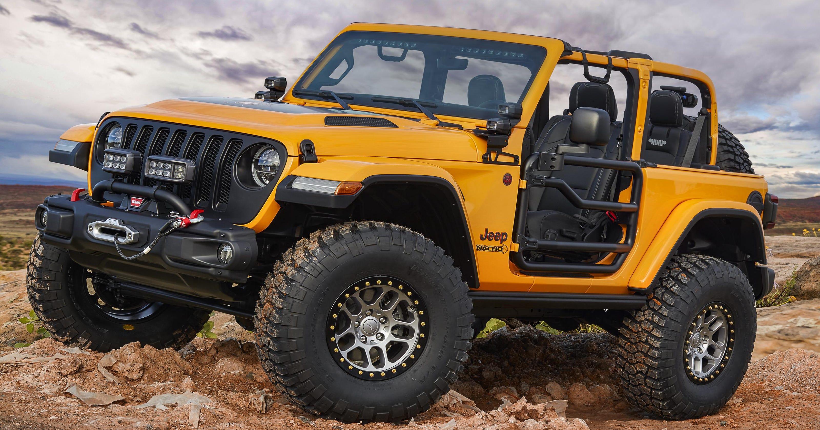 Jeep debuts seven new Moab rock stars