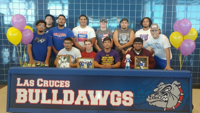 Las Cruces High's David Melendez signed to play football for Western New Mexico on Tuesday.