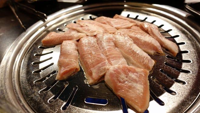 Pork jowl at Manna BBQ