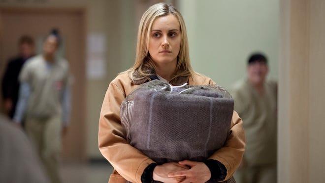 "Taylor Schilling in Lionsgate's Netflix hit  ""Orange Is the New Black."""