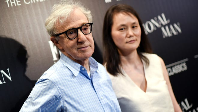 Director Woody Allen and wife Soon-Yi Previn at screening of his latest, 'Irrational Man,' at MoMA on July 15, 2015, in New York.