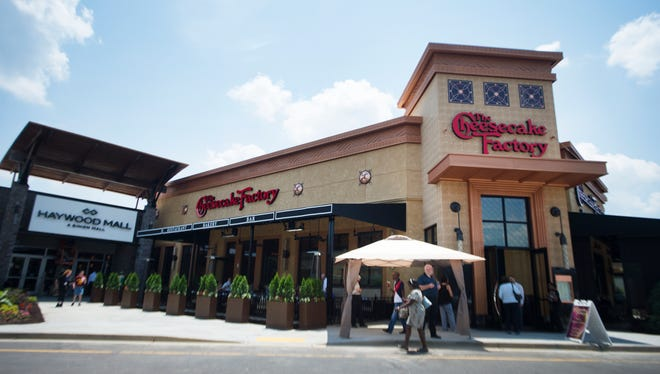 The Cheesecake Factory will officially open at Haywood Mall on May 31.