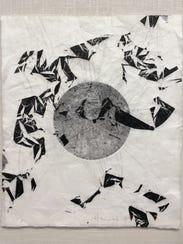 "Emilie Houssart's monoprint ""Growth"" on Japanese paper"