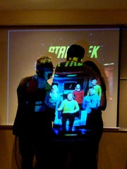 "Salon for the Parched, a monthly event for creative thinkers, features presentations, such as this one on ""Star Trek."""