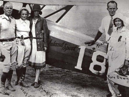 A 1930 photo taken after Vera Dawn Walker, right, won