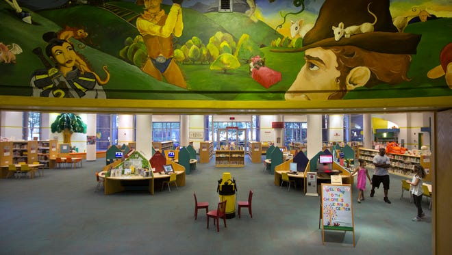The Children's Learning Center in the Hamilton County Public Library in downtown Cincinnati. The children's area is housed in the annex building of the library, which was built in 1997. The downtown library was one of the first in the country and dates back to the 1800's. The library has signed an agreement with 3CDC to explore the possibility of the non-profit taking over the annex building. All services would in that building would move to the main library.